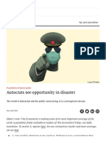 A Pandemic of Power Grabs - Autocrats See Opportunity in Disaster _ Leaders _ the Economist