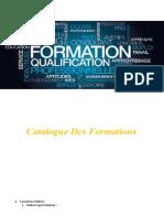 Catalogue Des Formation