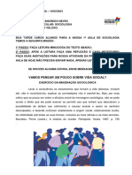PRIMEIRA AULA DE SOCIOLOGIA DA 2ª_2021