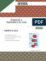 01 - INTRODUÇÃO À TRANSFERÊNCIA DE CALOR