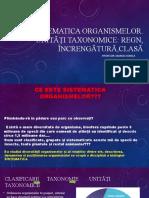 Sistematica organismelor cl 7