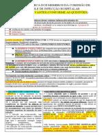 ASPECTOS ACERCA DOS MEMBROS DA COMISSÃO DE CONTROLE DE INFECÇÃO HOSPITALAR                                 PONTOS RELEVANTES