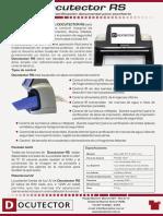 Folleto Docutector RS v4
