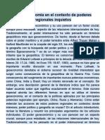 La geoeconomía en el contexto de poderes regionales inquietos (1)