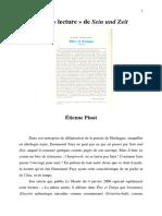 PINAT, Étienne. D'Une Lecture de Sein Und Zeit