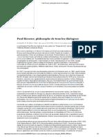 DELACAMPAGNE, Christian. Paul Ricoeur, philosophe de tous les dialogues. (LE MONDE 2005)