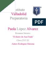 Diario de Ana Frank (Resumen)