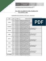 CRONOGRAMA DEL IZAMIENTO DEL PABELLÓN NACIONAL 2021