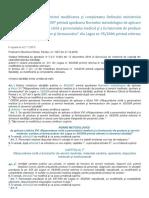 Ordinul nr. 1411-2016 privind modificarea titlului XV malpraxis