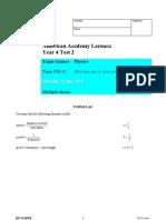 KS4 / P1b.11 Now you see it now you don't test 10_ 11 MC questions