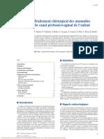 traitement chirurgical des anomalies du canal péritonéovaginal de l'enfant