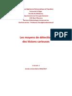 2- les moyens de DC des lésions carieuses (2)