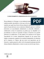 El Procedimiento Administrativo en Nicaragua