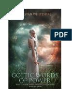 Palavras de Poder Goéticas Tristan Whitespire