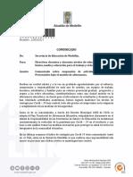 Medellin Comunicado sobre suspensión de actividades académicas presenciales bajo el modelo de alternacia (1)