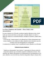 Los Pisos Climáticos del Ecuador