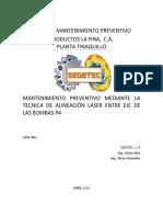 Informe  Alineaciones Bombas P4 - Abril 2020