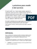 Métodos prácticos para medir la calidad del servicio