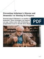 Preventing Alzheimer's and Dementia—or Slowing its Progress