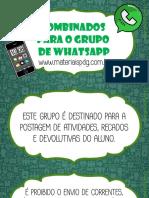 Combinados Para o Grupo Do Whatsapp - Materiaispdg