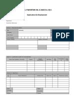 Job Application Form MOL Pakistan