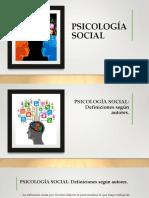 UNIDAD I -PSICOLOGIA SOCIAL-CLASES I Y II