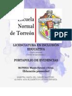 portafolio de evidencias. mundo natural y social