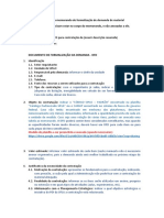 Modelo Para Memorando de Formalizao de Demanda de Material