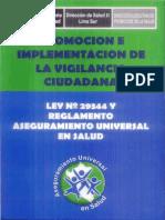 """LEY 29344 """"LEY MARCO DE ASEGURAMIENTO UNIVERSAL EN SALUD"""""""