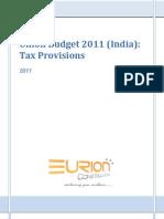 EURION - Union Budget