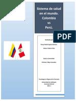 Sistema de Salud en el mundo. Perú vs Colombia. Deasy Zapata y Juliana Tabares