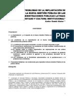 RAMIO MATAS, Carles - Los problemas de la implantacion de la nueva gestion