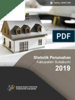 Statistik Perumahan Kabupaten Sukabumi 2019