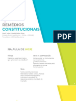 Remedios Constitucionais