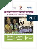 Guía Metodológica y Malla de Contenido AEP 3ro y 4to grado