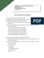 ListadeExercicios02(Memoria)