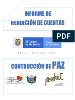Presentación Rendición de Cuentas Pdet Miraflores Guaviare