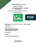 INFORME PROCESO DE PRODUCCIÓN DE ARROZ EN AGRICORP