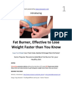 Fat Burner, Effective to Lose Weight Faster Than You Know