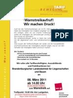 2011 TdL Warnstreikaufruf BLB Zeiten