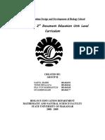 Task of Curriculum Design and Development of Biology School