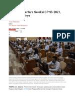 Jadwal Sementara Seleksi CPNS 2021