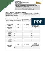 Relatório de Monitoramento Mensal Do Coordenador Aulas Remotas