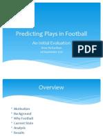 Football Play Prediction 29 Sep 17
