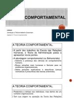 Teoria Comportamental da Administração - Capítulo 13