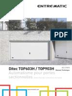 1. FR - Ditec Top manuel technique