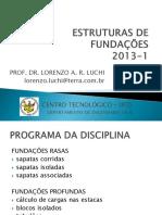 ESTRUTURAS DE FUNDAÇÕES 1 - INTRODUÇÃO