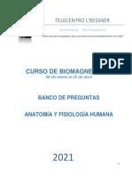CURSO DE BIOMAGNETISMO - BANCO DE PREGUNTAS - EVALUACIÓN INTERMEDIA