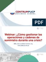 Webinar, Cómo gestionar las operaciones y cadenas de suministro durante una crisis