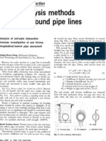 Stress Analysis Methods for Underground Pipe Lines Part 2 - Soil-Pipe Interaction